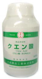 【食品用】クエン酸 500g ※瓶入り